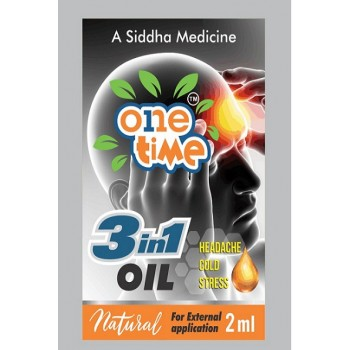 3 in1 Oil for Headache, Cold, Stree Relief