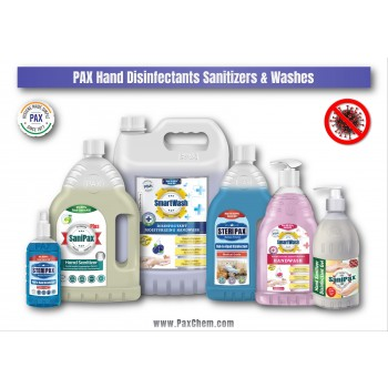 PaxChem Hand Hygiene Disinfectants, Sanitizers & Washes