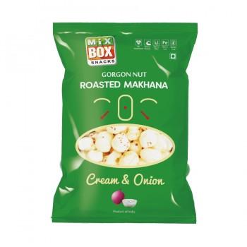 Mixbox Roasted Makhana – Cream & Onion ( Small)
