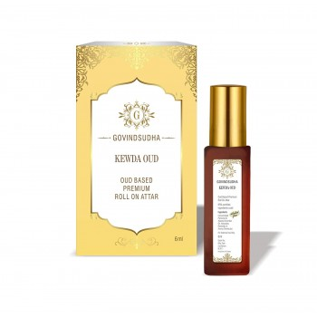 Kewda Fragnance Oud Based Premium Roll On Attar for Unisex_6ml