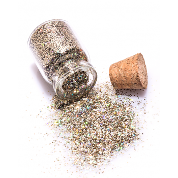 Bridal Gold holographic loose glitter